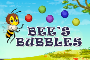 Bees Bubbles | Online Game from Bear and Bee Bedtime Rhymes