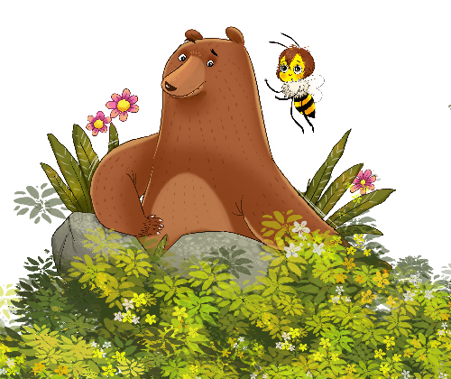Bear and Bee Bedtime Stories Mobile Bedtime Story with child safe games, music and puzzles.