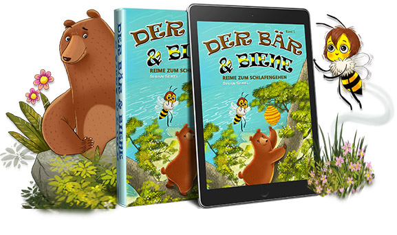 Bear & Bee Bedtime Stories ist eine lyrische Geschichte von zwei unwahrscheinlichen Freunden, die ein Leben zusammen auf der Insel von Bearberia bauen..
